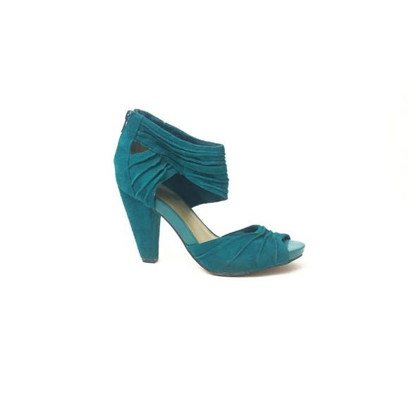 turquoise suede sandals